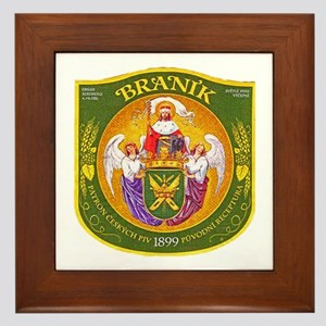 Czech Beer Label 1 Framed Tile