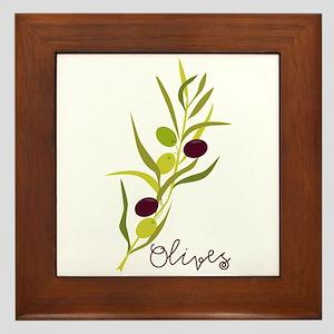 Olives Framed Tile