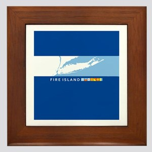Fire Island - New York. Framed Tile