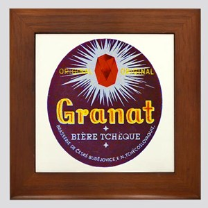Czech Beer Label 7 Framed Tile