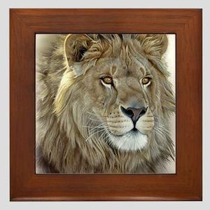 lion-portrait-t-shirt Framed Tile