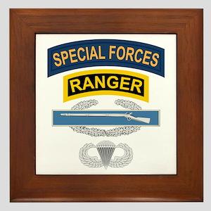 SF Ranger CIB Airborne Framed Tile