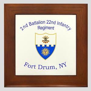 2nd Bn 22nd Inf Reg Framed Tile