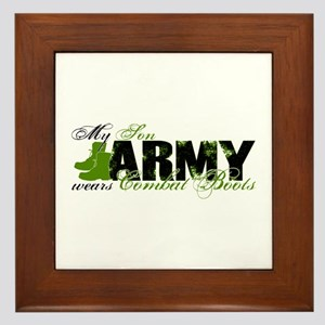 Son Combat Boots - ARMY Framed Tile