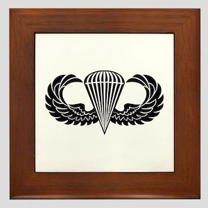 Jump Wings Stencil Framed Tile