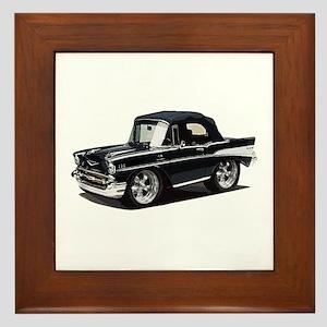 BabyAmericanMuscleCar_57BelR_Black Framed Tile