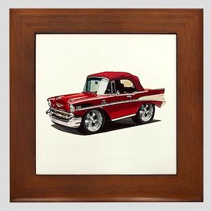 BabyAmericanMuscleCar_57BelR_Red Framed Tile