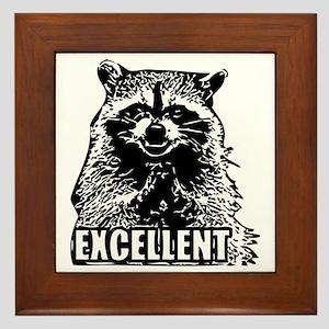 Excellent Raccoon Framed Tile