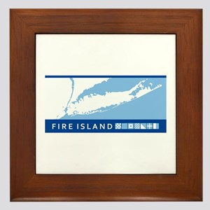 Fire Island - Long Island. Framed Tile