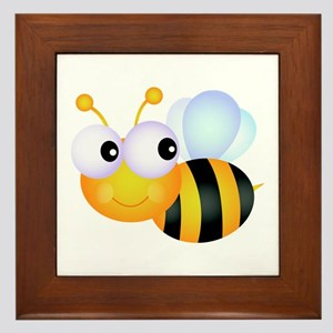 Cute Cartoon Bumble Bee Framed Tile