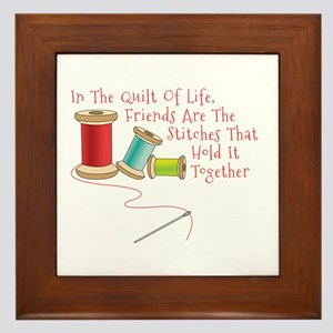 Quilt of Life Framed Tile