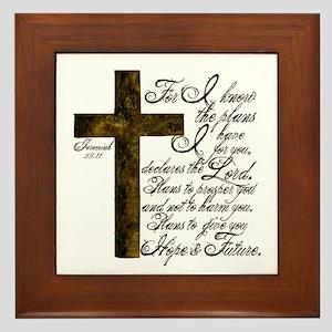 Plan of God Jeremiah 29:11 Framed Tile