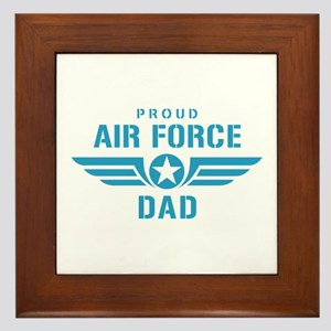 Proud Air Force Dad W Framed Tile