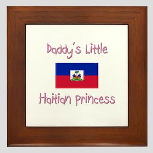 Daddy's little Haitian Princess Framed Tile