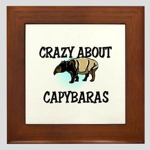 Crazy About Capybaras Framed Tile