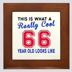Really Cool 66 Birthday Designs Framed Tile