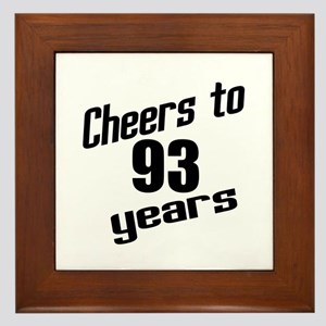 Cheers To 93 Years Birthday Framed Tile
