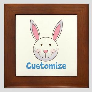 Custom Easter Bunny Framed Tile