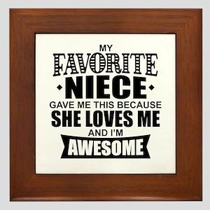 Favorite Niece Framed Tile
