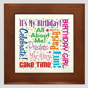 It's My Birthday Framed Tile