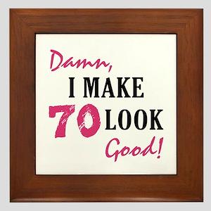 Hot 70th Birthday Framed Tile