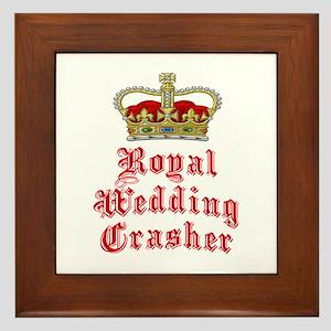 Royal Wedding Crasher Framed Tile