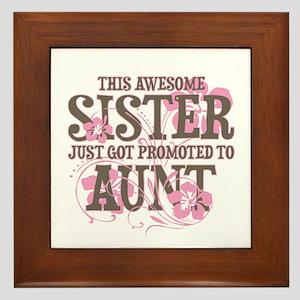 Promoted Aunt Framed Tile