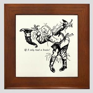 Vintage Scarecrow Framed Tile