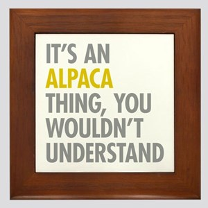 Its An Alpaca Thing Framed Tile