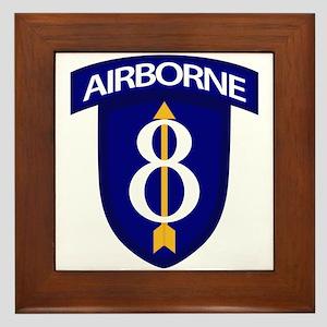 8th Infantry Airborne Framed Tile