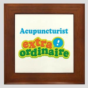 Acupuncturist Extraordinaire Framed Tile