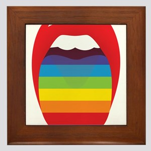 Lipstick Lesbian Domination Framed Tile
