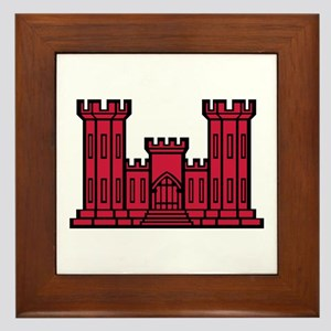 Engineer Branch Insignia - Red Framed Tile