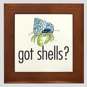 hermit crab Framed Tile