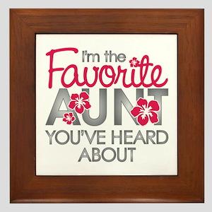 Favorite Aunt Framed Tile