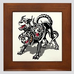 ARNG-127th-Infantry-HHC-Hellhound-Blac Framed Tile