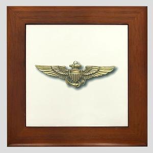'Naval Aviator Wings' Framed Tile