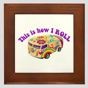 How I Roll (Hippie Van) Framed Tile