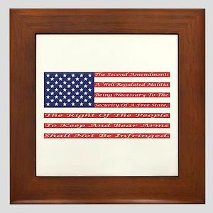 2nd Amendment Flag Framed Tile