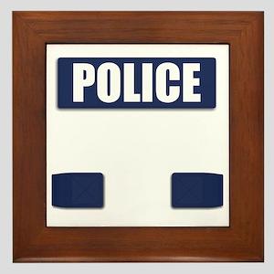 Police Bullet-Proof Vest Framed Tile