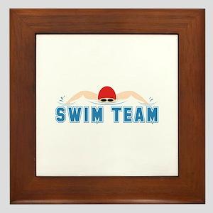 Swim Team Framed Tile