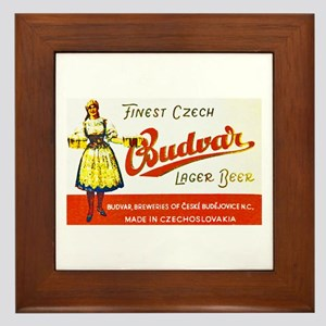 Czech Beer Label 8 Framed Tile