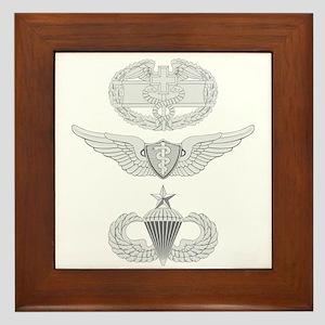 CFMB Flight Surgeon Airborne Senior Framed Tile