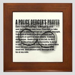A POLICE OFFICER'S PRAYER Framed Tile
