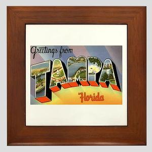 Tampa Florida Greetings Framed Tile
