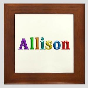 Allison Shiny Colors Framed Tile