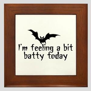A Bit Batty Framed Tile