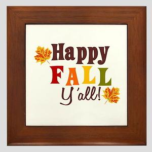 Happy Fall Yall! Framed Tile