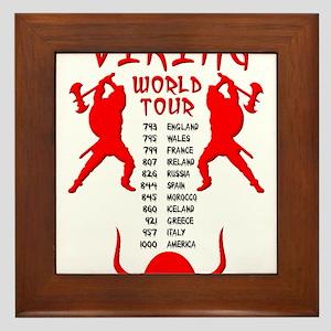 Viking World Tour Funny Norse T-Shirt Framed Tile