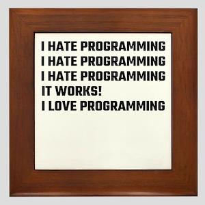 I Love Programming Framed Tile